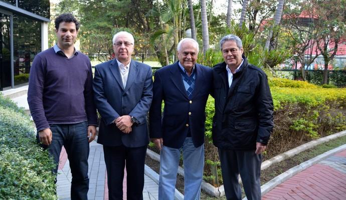 Gustavo Vieira de Oliveira, José Jacobson Neto, Carlos Augusto de Barros e Silva e José Alexandre Medicis - diretoria do São Paulo (Foto: Juca Pacheco / saopaulofc.net)