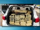 PRF prende homem transportando 808 kg de maconha em carro roubado