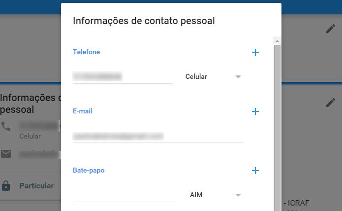 Informe privadamente suas informações de contato (Foto: Reprodução/Paulo Alves)
