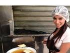 Anitta se arrisca em outra profissão e posta foto fritando pastéis