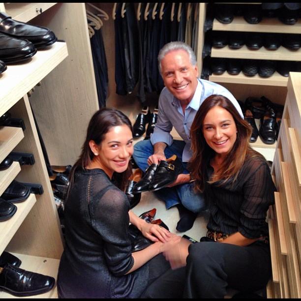 Roberto Justus exibe closet cheio de sapatos (Foto: Instagram)