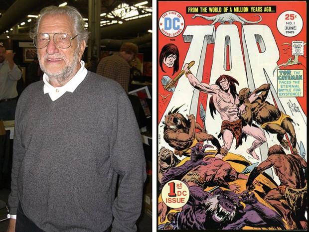 Joe Kubert e uma de suas criações, Thor (Foto: Reprodução)