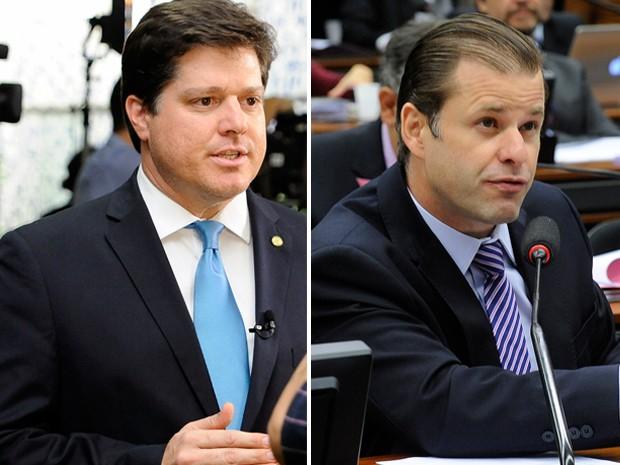 Leonardo Quintão e Baleia Rossi disputam liderança do PMDB na Câmara (Foto: Agência Câmara)