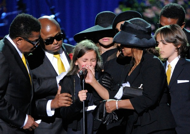 Paris Jackson no funeral de Michael Jackson (Foto: Getty Images)