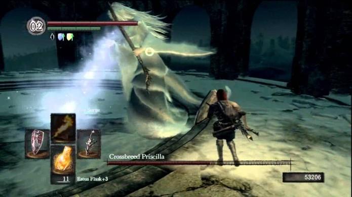 Priscilla usando seu ataque Blizzard (Foto: Reprodução/Youtube)
