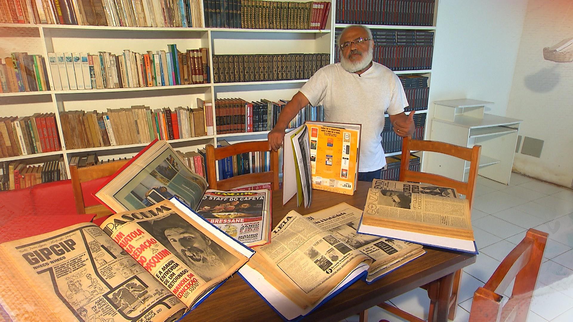 Professor Jorge Araújo cuida de espaço cultural multimídia em Santo Antônio (Foto: Divulgação)