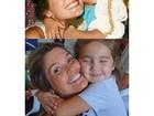 Flávia Alessandra postas fotos iguais com as filhas: 'Amores na minha vida'