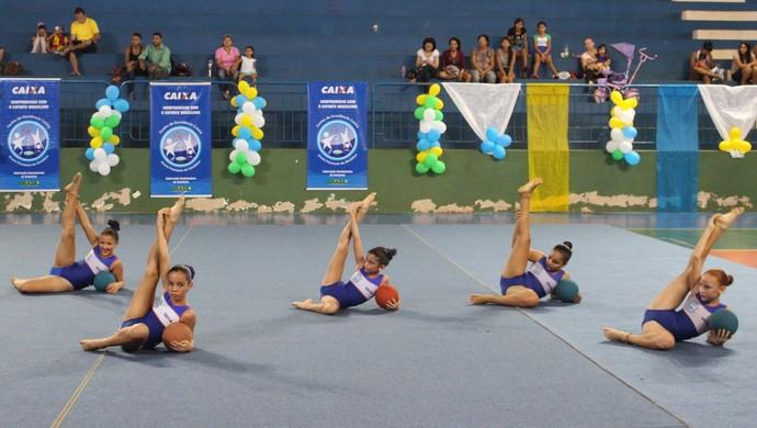 Quase 200 ginastas se apresentaram no 2º Festival de Ginástica Rítmica em Porto Velho (Foto: Samira Lima)