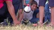 Em competição científica, alunos de Santarém lançam foguetes de garrafa PET