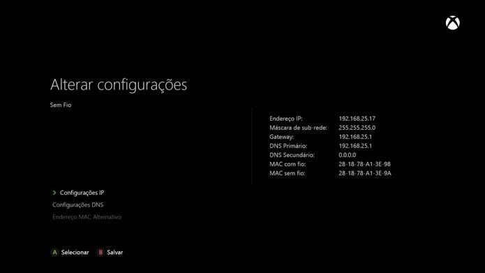 Também dá para configurar o IP manualmente (Foto: Reprodução/Murilo Molina)