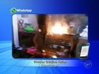 Princípio de incêndio atinge área de papelaria no Centro de Itapetininga