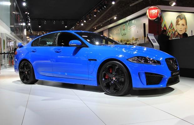Jaguar XKR-S no Salão do Automóvel 2014 (Foto: Fabio Aro/Autoesporte)
