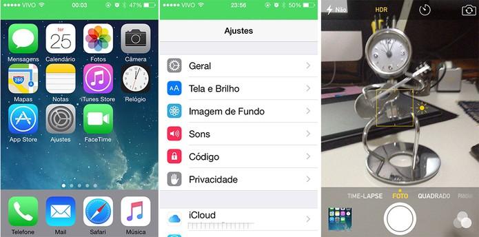 A interface iOS do iPhone é focada em usabilidade e design de ponta (Foto: Reprodução/Barbara Mannara)