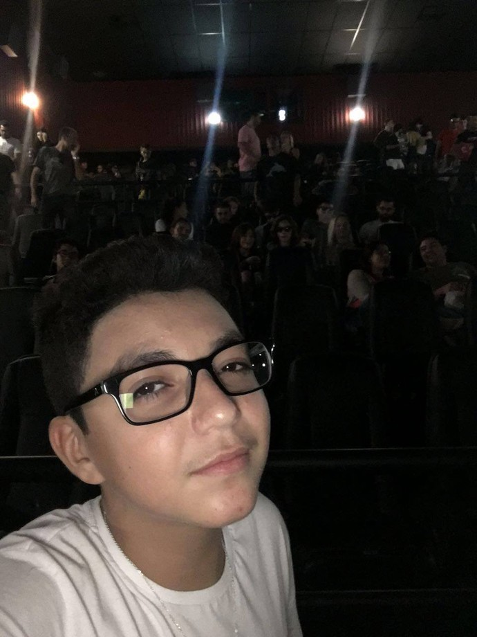 Wagner Barreto campeão do The Voice Kids no cinema pela primeira vez (Foto: Arquivo pessoal)