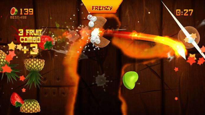 Fruit Ninja Kinect consegue ser mais divertido e dinâmico que sua versão mobile (Foto: Divulgação)