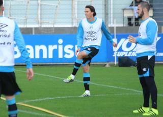 Pedro Geromel Fred Grêmio (Foto: Eduardo Moura/GloboEsporte.com)