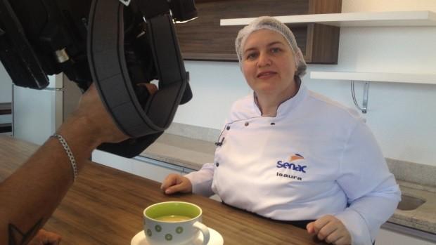 Vida e Saúde ensina receita de canja (Foto: Sonia Campos/RBS TV)