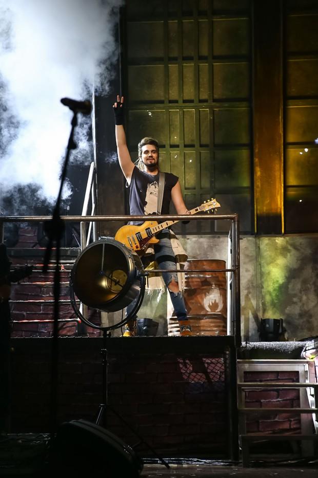 Luan Santana em São Paulo (Foto: Raphael Castello/AgNews)