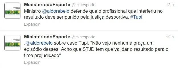 Twitter Ministério do Esporte (Foto: Reprodução/Twitter)