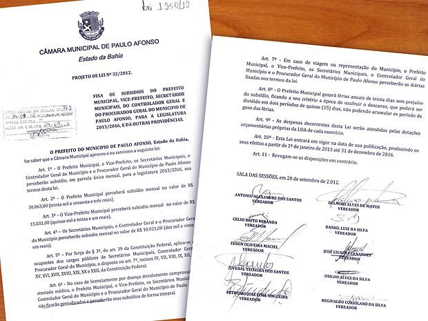 Vereadores aprovaram salário de R$ 30 mil para o prefeito da cidade (Foto: Divulgação/Prefeitura)