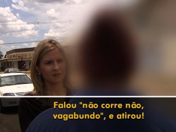 Mulher relata como marido foi morto ao sair para festejar Dia das Crianças em Goiás (Foto: Reprodução/TV Anhanguera)