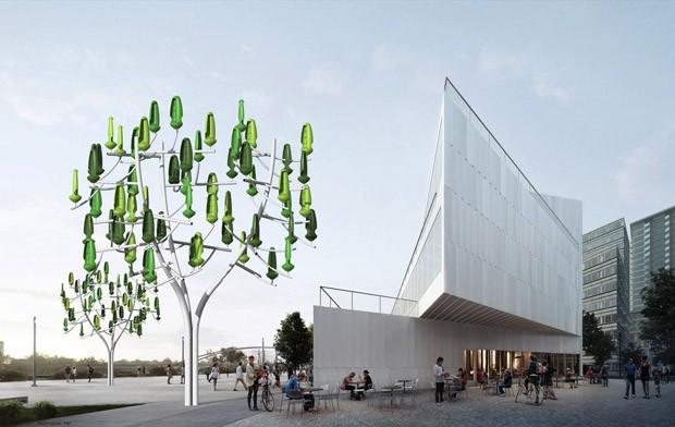 Turbinas em formato de árvores geram energia eólica  (Foto: Reprodução)