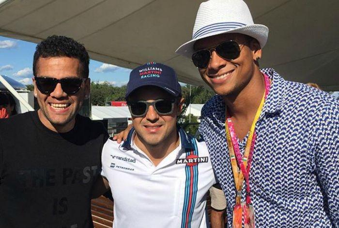 Daniel Alves, Felipe Massa e Guarín, GP da Itália de Fórmula 1