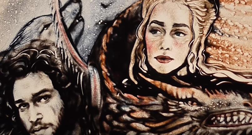 Game of Thrones de areia? Artista cria vídeo incrível com personagens da série (Foto: Reprodução/Youtube)