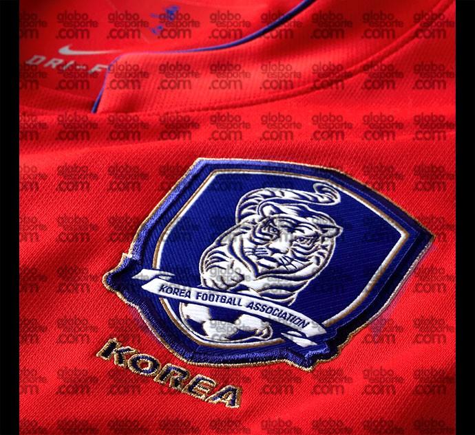 Camisa Coreia detalhe