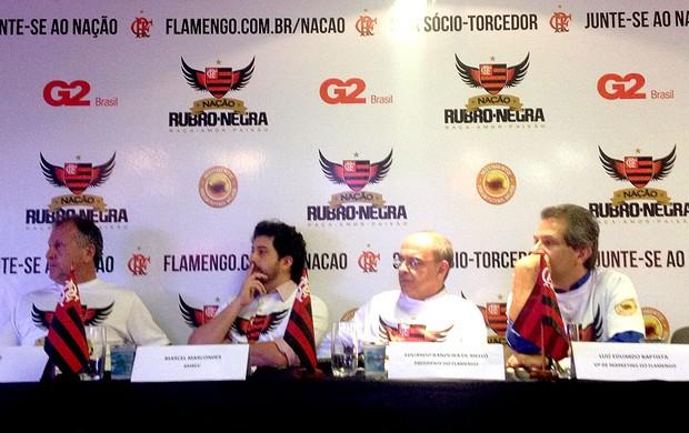 Flamengo coletiva sócio-torcedor (Foto: Cahê Mota)