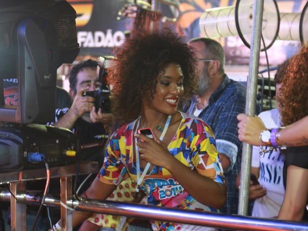 Erika Januza em micareta em Fortaleza, no Ceará (Foto: Fred Pontes/ Divulgação)