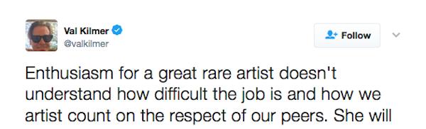 Uma declaração do ator Val Kilmer sobre a atriz Cate Blanchett (Foto: Twitter)