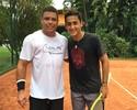 Ronaldo se arrisca no tênis em partida com o espanhol Nicolás Almagro
