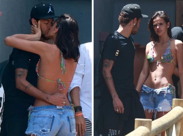 Bruna Marquezine e Neymar se despedem em Noronha (Foto: AgNews)