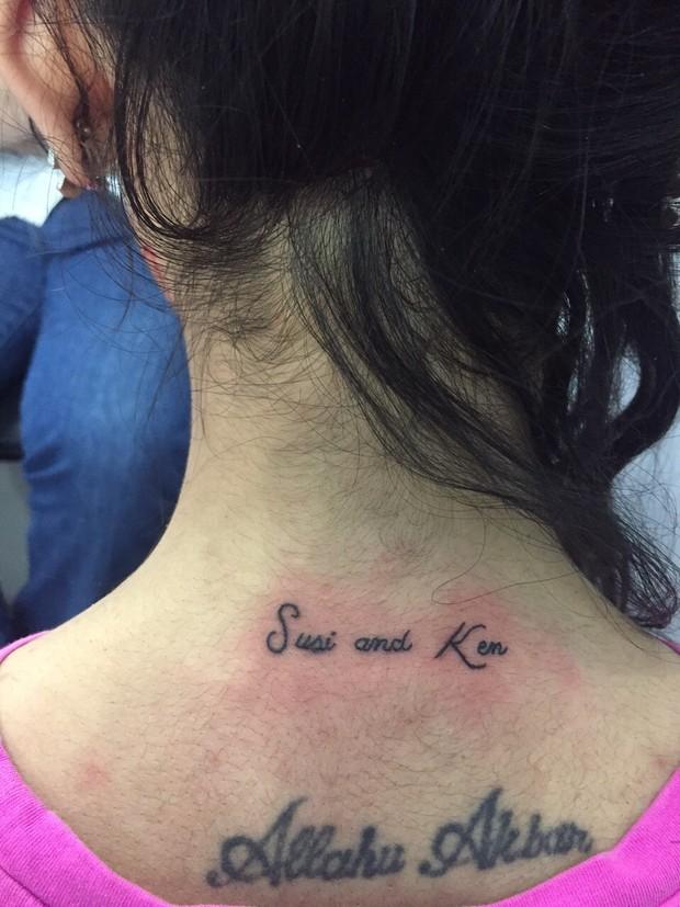 Nova tatuagem de Jennifer Pamplona (Foto: Arquivo Pessoal)