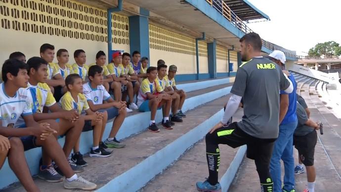 Michel Alves, Botafogo-PB, Colosso dos Tapajós (Foto: Reprodução / TV Tapajós)