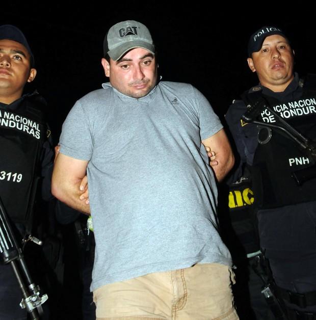 Plutarco Antonio Ruíz é preso pelo assassinato da Miss Honduras Mundo e sua irmã (Foto: STR / AFP)