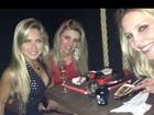 Ex-BBBs Renata e Iris Stefanelli exibem pernas em jantar