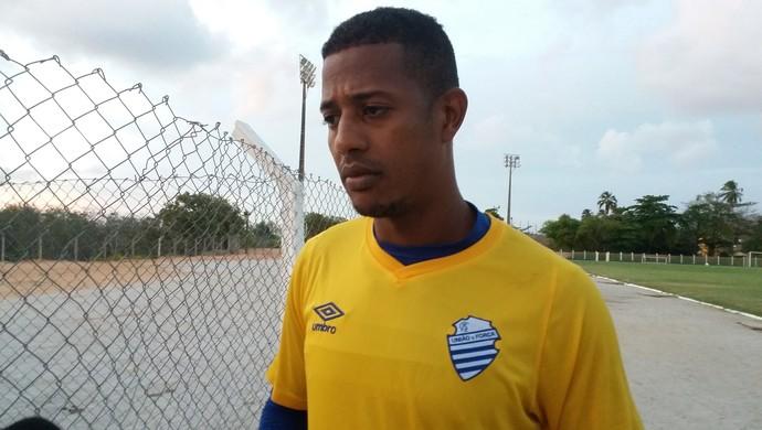 Mota, goleiro do CSA (Foto: Augusto Oliveira/GloboEsporte.com)