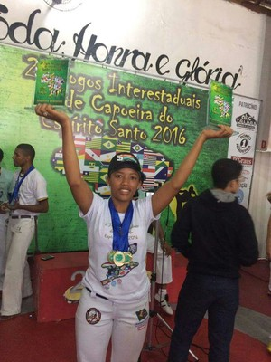 Juliana Vieira, capoeirista piauiense (Foto: Arquivo Pessoal)