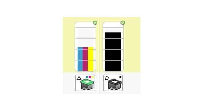 A falta de tinta pode causar impressão em cores erradas (Reprodução/HP)