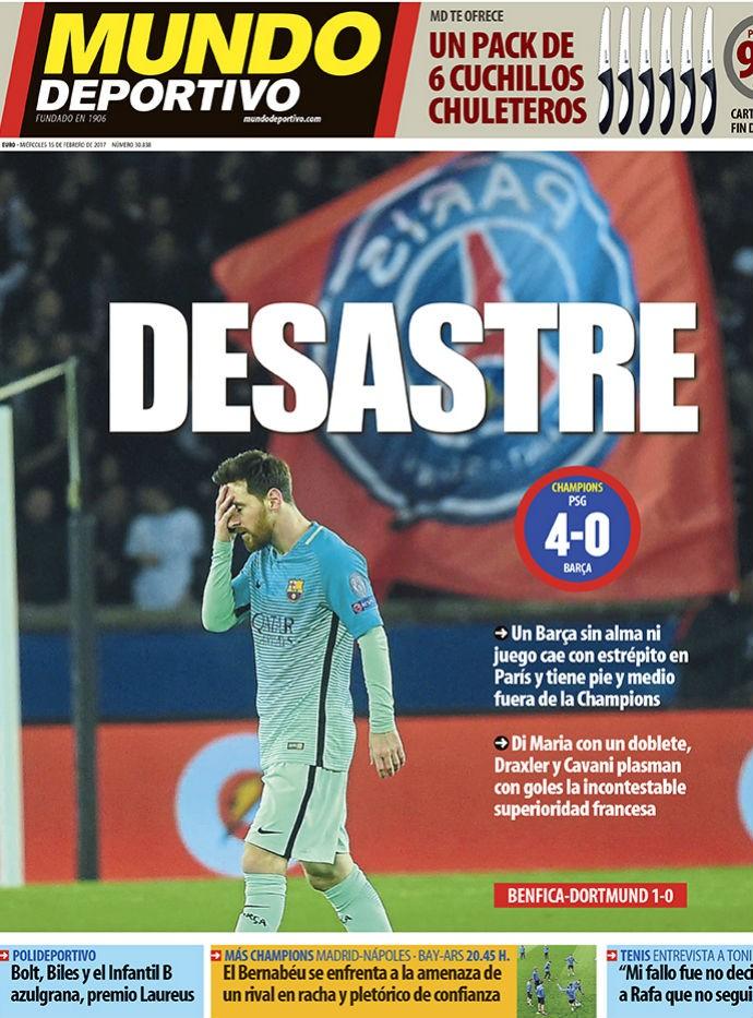 """BLOG: Jornais catalães estampam vexame em Paris: """"Isso não é o Barça"""""""