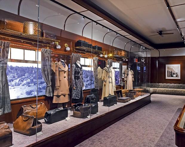 Louis Vuitton - A sala que recupera o interior do expresso do oriente (Foto: Divulgação)