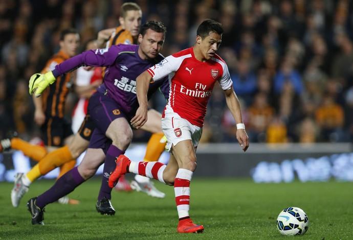 Alexis Sanchez, Hull City x Arsenal (Foto: Agência Reuters)