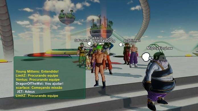 O game mistura elementos de luta com MMO (Foto: Reprodução/Victor Teixeira)