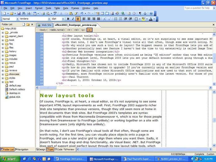 Microsoft Front Page (Foto: Reprodução/André Sugai)