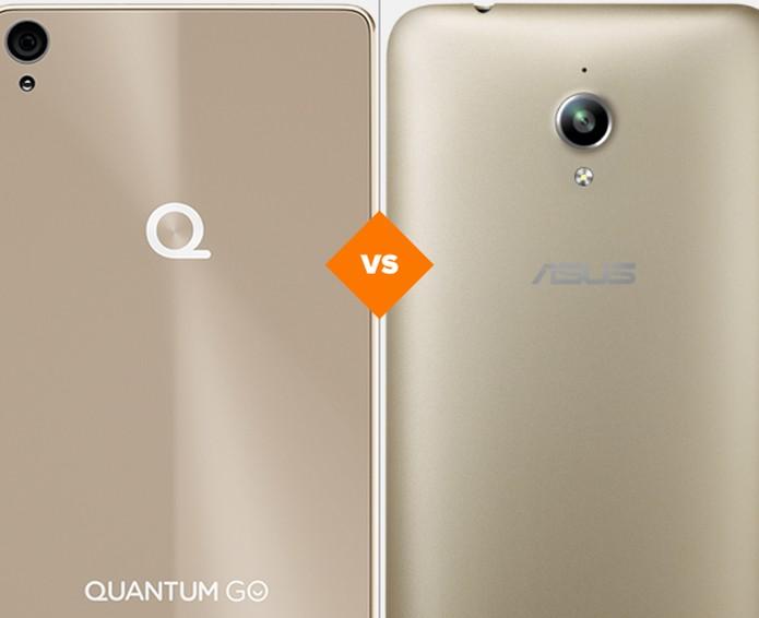 Confira o comparativo entre o Quantum Go e o Zenfone Go (Foto: Arte/TechTudo)