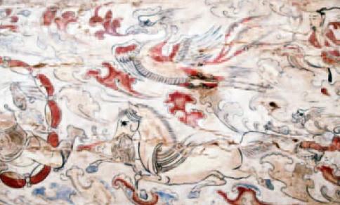Na imagem pode-se ver um cavalo alado levando um tigre na boca (Foto: Reprodução)