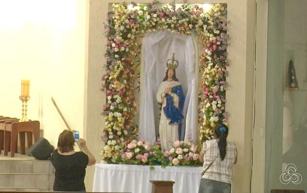 Nossa Senhora da Glória será homenageada durante 10 dias em Cruzeiro do Sul (Foto: Acre TV)
