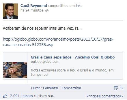 Cauã Reymond (Foto: Reprodução / Facebook)